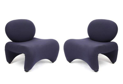 Carlo Bartoli. Карло Бартоли. Sculpted Carlo Bartoli Lounge Chairs