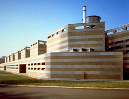 Mario Bellini. Марио Беллини. AEM new offices in Cassano D'Adda. Cassano D'Adda (MI), Italy. 1985 - 1990