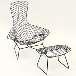 Harry Bertoia. Гарри Бертойя. High back chair. 1952