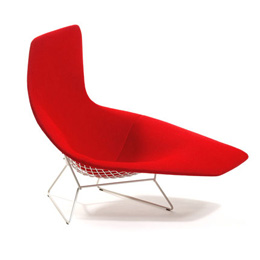 Harry Bertoia. Гарри Бертойя. Asymmetric Chaise. 1953/2005