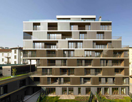 Antonio Citterio. Антонио Читтерио. Residential building on via Salaino 10, Milan (Italy), 2011