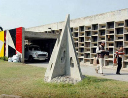 Le Corbusier. Ле Корбюзье. Колледж искусств (Government College of Arts(GCA). Чандигарх (Chandigarh), Пенджаб, Индия. 1959