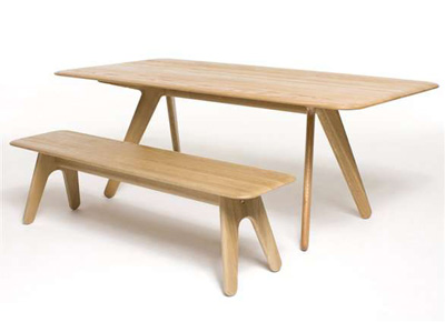 Tom Dixon. Том Диксон. Slab Bench. Slab Dining Table