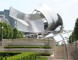 Фрэнк Гери. Frank Gehry: Jay Pritzker Pavilion, Millennium Park, Chicago, Illinois, USA, 2004