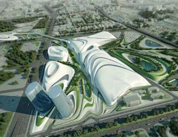 Заха Хадид. Zaha Hadid Architects: Cairo Expo City Competition, Egypt, 2009—