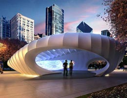 Заха Хадид. Zaha Hadid Architects: Millennium Park Pavilion, Chicago, USA, 2009—