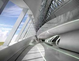 Заха Хадид. Zaha Hadid Architects: Zaragoza Bridge Pavilion, Zaragoza, Spain (Мост в Сарагоссе, Испания), 2005—2008