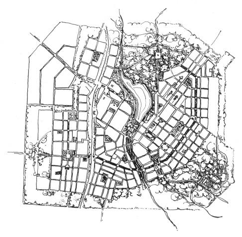 Схема планировки. 1927