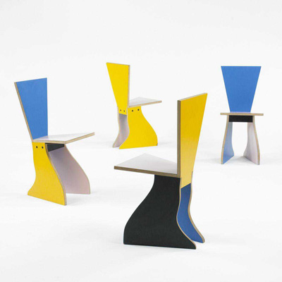 Alessandro Mendini. Алессандро Мендини. Chairs (set of 4), 1983