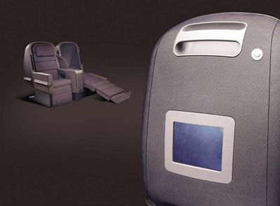 Marc Newson. Марк Ньюсон. Skybed Business Class Seat, 2002