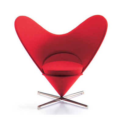 Verner Panton. Вернер Пантон. Heart-shaped Cone Chair M