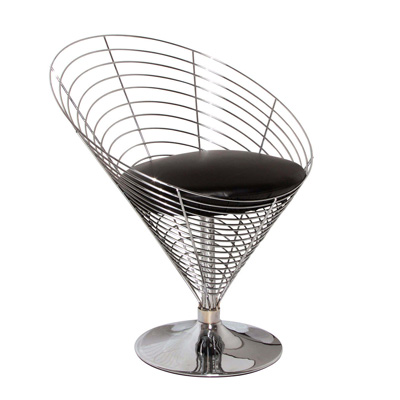 Verner Panton. Вернер Пантон. Wire Cone Chair