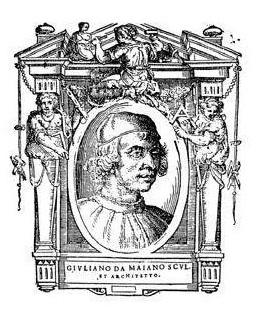 """Джулиано да Майано (Giuliano da Maiano). Гравюра из книги Джорджо Вазари """"Жизнеописания наиболее знаменитых живописцев, ваятелей и зодчих"""""""
