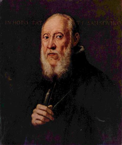 Якопо Сансовино (Jacopo Sansovino; 1486—1570). Портрет работы Тинторетто