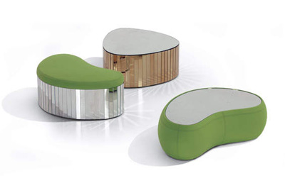 Karim Rashid. Карим Рашид. Antique Mirror Dawn and Noon Tables, 2010
