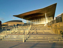 Ричард Роджерс (Richard Rogers): National Assembly for Wales, Cardiff, Wales, UK (Национальная Ассомблея Уэльса), 1998—2005