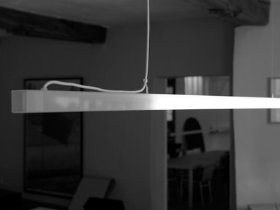Maarten van Severen. Маартен ван Северен. U-line hanging lamp, Light, 1998