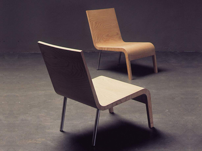 Maarten van Severen. Маартен ван Северен. Low chair, Aiki, 1993