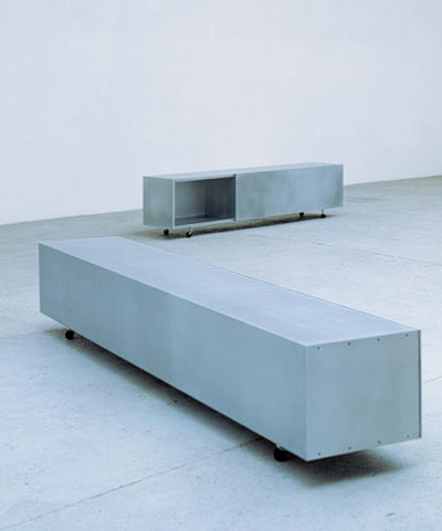 Maarten van Severen. Маартен ван Северен. Low cupboard on castors, Aiki, 1994