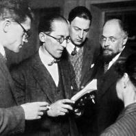 Ле Корбюзье, Александр Веснин и Андрей Буров. Москва, 1928 г.
