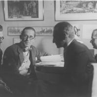 Ле Корбюзье, Андрей Буров и др. Москва, 1928 г.