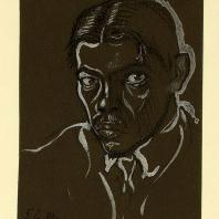 А.И. Гегелло. Автопортрет. 1914 г.