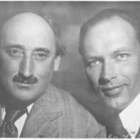Архитекторы Евгений Адольфович Левинсон (1894-1968) и Игорь Иванович Фомин (1904-1989) (справа налево) 1932 Фотография ЦГАКФФД