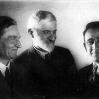 М. Сарьян, А. Таманян, М. Мазманян. Ереван, 1931 год
