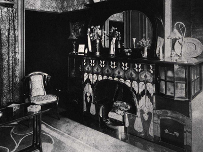 Генри ван де Велде. Henry van de Velde: Interior for Leon Biart, Brussels