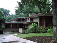Фрэнк Ллойд Райт (Frank Lloyd Wright): Isabel Roberts House, River Forest, Illinois (Дом Изабеллы Роберте, Ривер-Форест, Иллинойс), 1908; реконструкция 1958